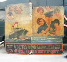 1928 A Girl in Every Port Billboard Poster with Original Artwork