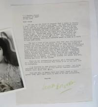 1965 Letter from Louise Brooks to Frank