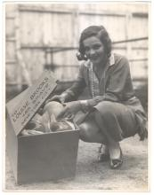 1927 Sally Blane Ostrich Egg Easter Gift to Louise Brooks