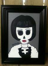 Louise Brooks Day of the Dead painting