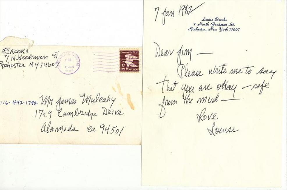 1982 Letter from Louise Brooks to James Mulcahy