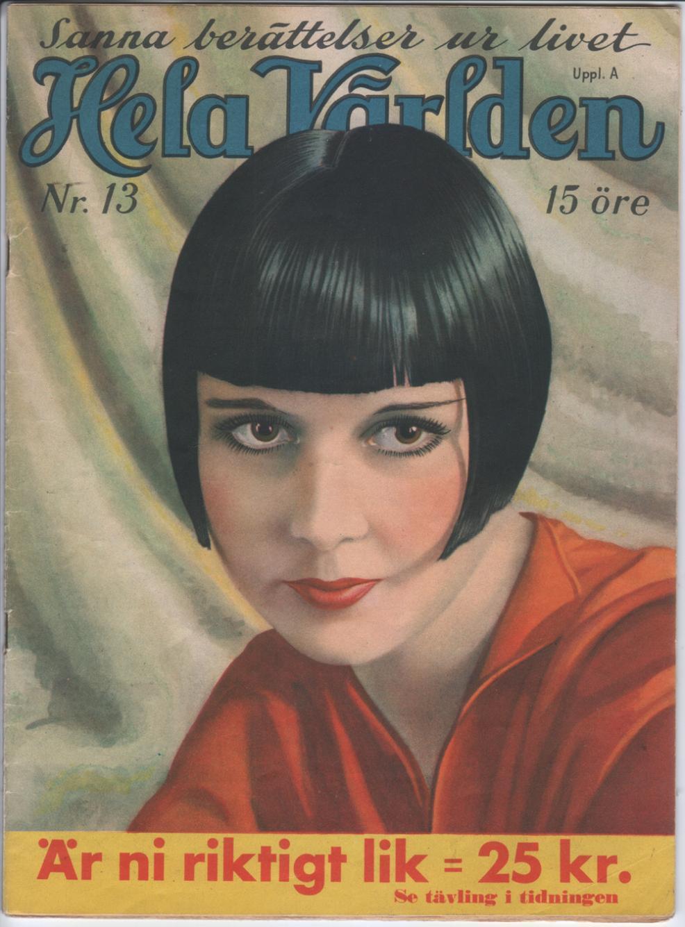 1933 Hela Varlden Louise Brooks Cover