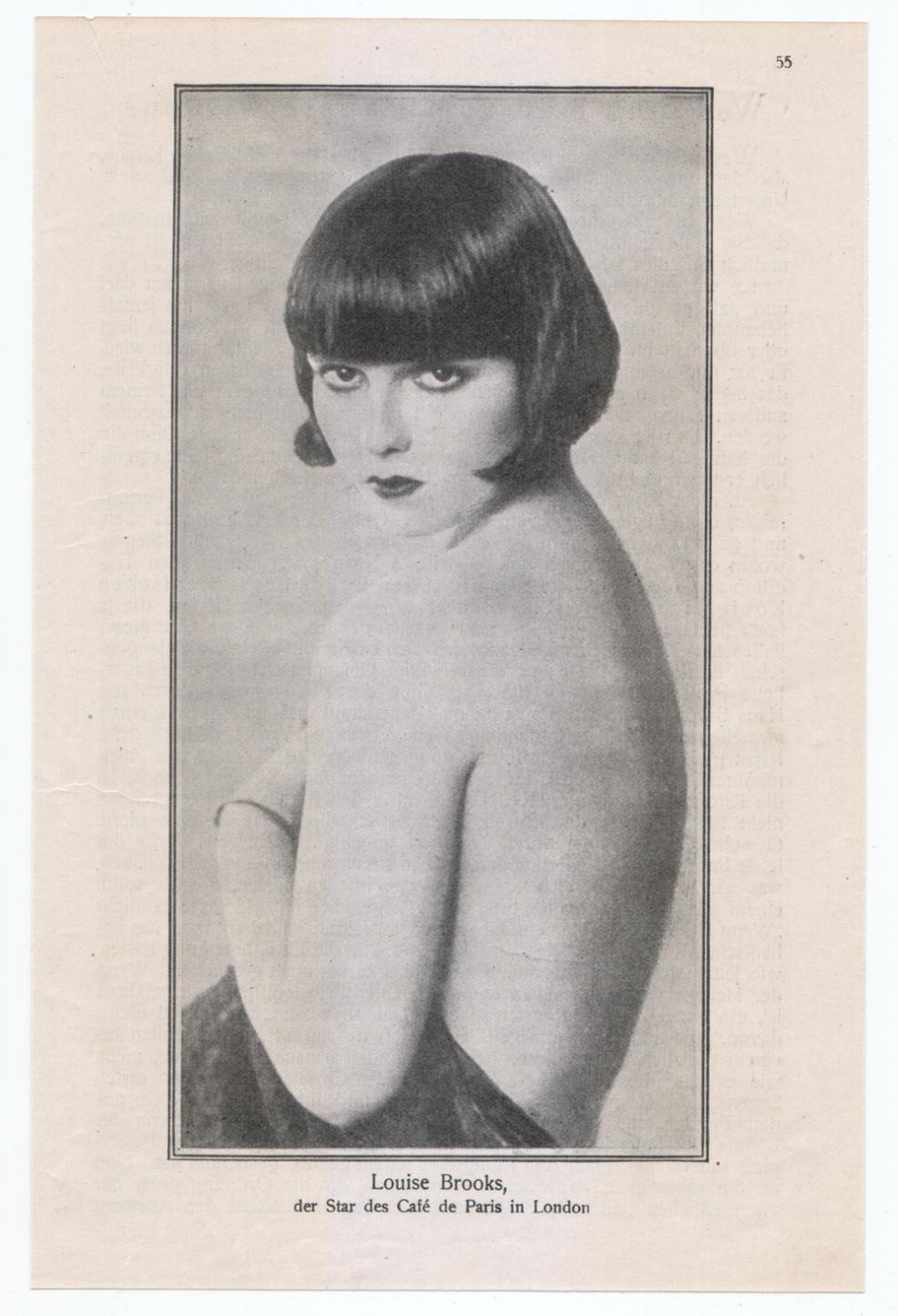 1925 Louise Brooks at the Café de Paris