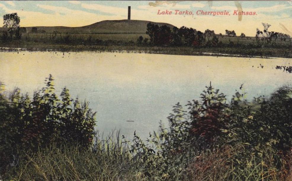 1916 Cherryvale Kansas Lake Tarko Postcard - 16274