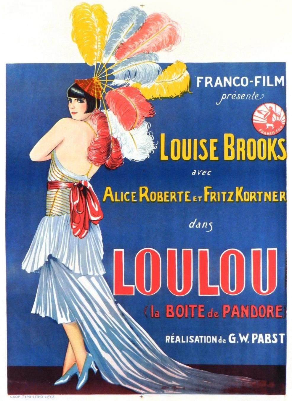1929 Pandora's Box Belgian Poster