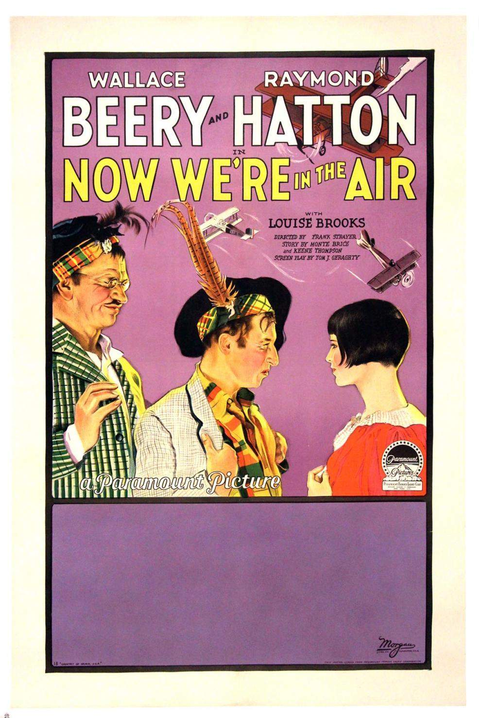 1927 Now We're in the Air One Sheet