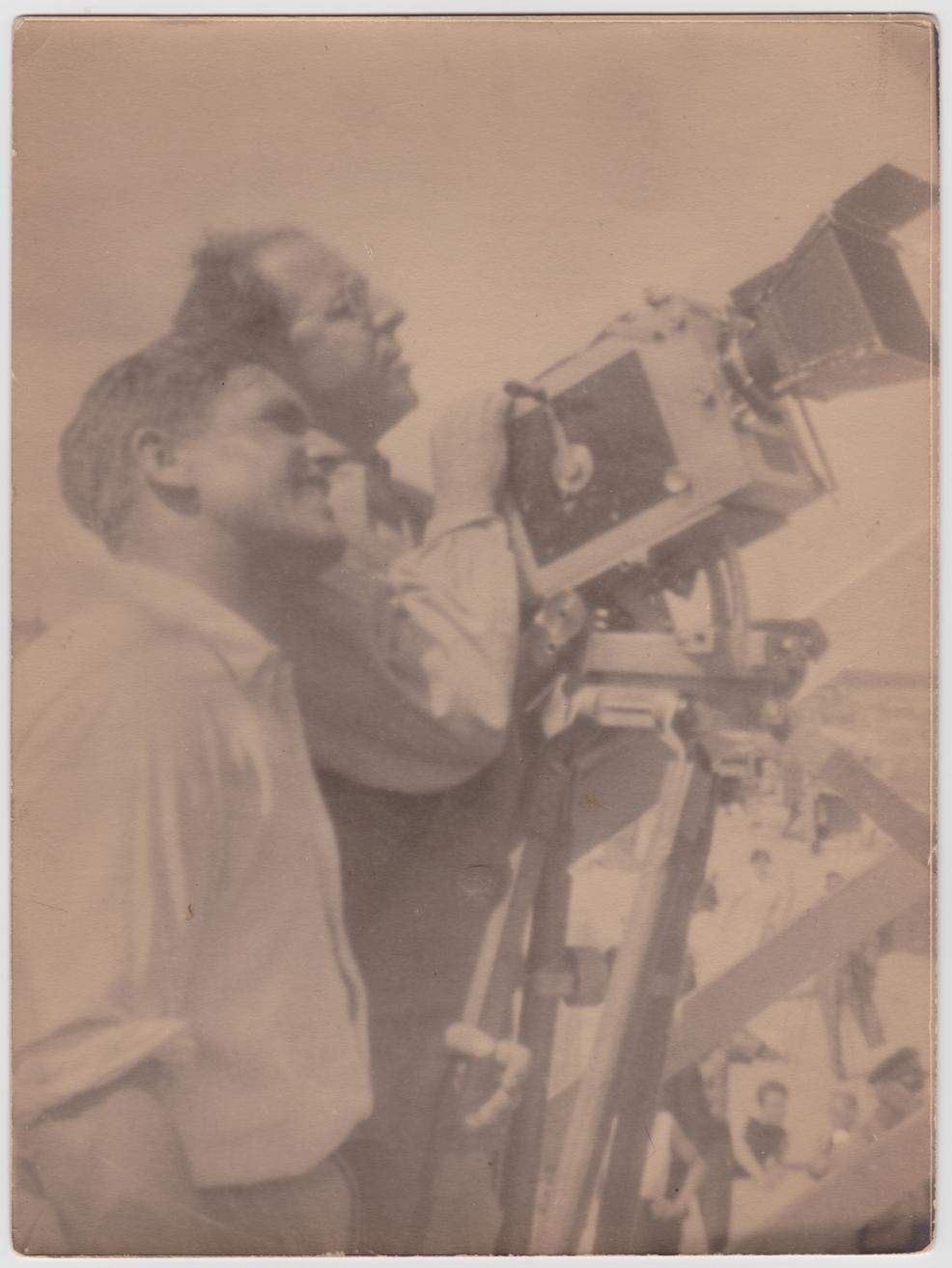 1929 G.W. Pabst and Sepp Allgeier on location