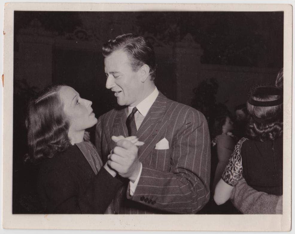 1938 Louise Brooks and John Wayne in Los Angeles
