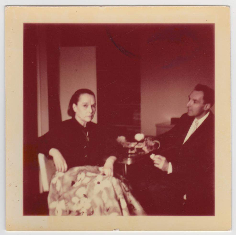 1962 Louise Brooks and Gerald Pratley in Rochester